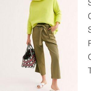 FP Olive Green High Waist Culottes